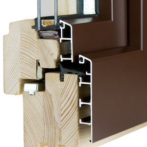 hliníkovo-dřevěná okna